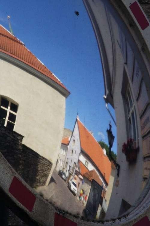 Tallinn Mirroring City Houses Distortion
