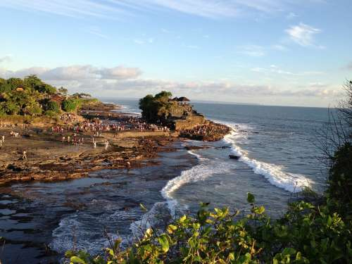 Tanah Lot Bali Ocean Nature Coast
