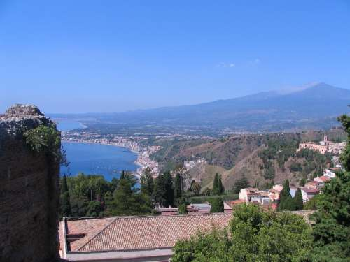 Taormina Sicily Italy Etna