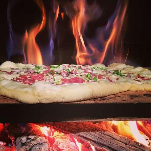 Tarte Flambée Pizza Wood Burning Stove Fire Oven