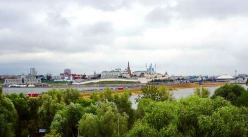 Tatarstan Kazan City Clouds Landscape Russia Sky