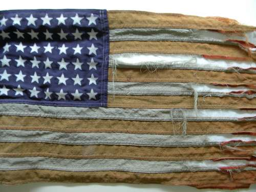 Tattered Flag Old Glory Vintage Flag America