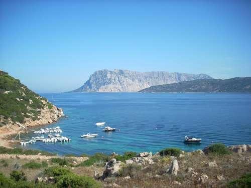 Tavolara Island Sardinia Sea