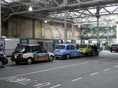 Taxi Station Edinburgh Scotland