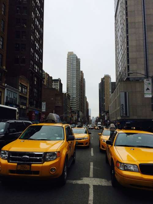 Taxi Traffic New York Road City