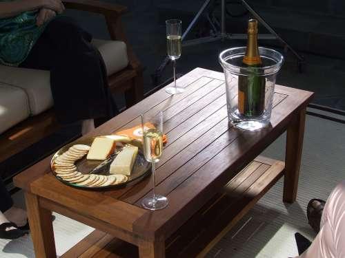 Teak Teak Table Coffee Table Wine Cheese