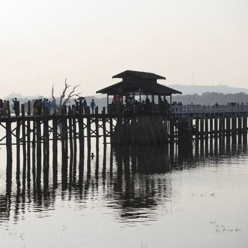 Teak Bridge Myanmar Asia Harmony Rest