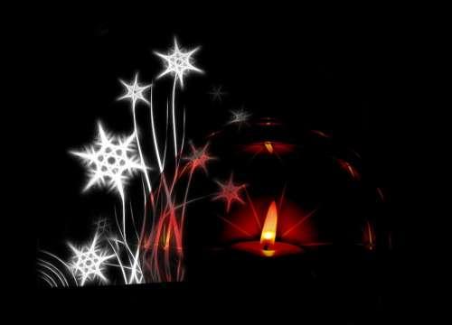 Tealight Candle Star Sparkle Christmas Ball
