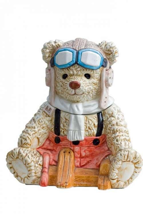 Teddy Bear Teddy Bear Ornament Aviator Pilot Cute