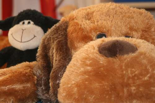 Teddy Dog Stuffed Animal Children Purry Cuddly