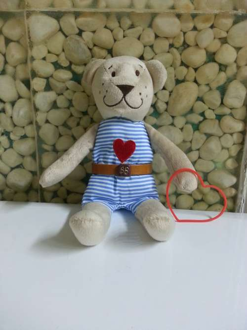 Teddy Bear Heart Childhood Toy Cute Happy Love
