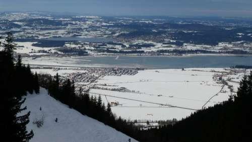 Tegelberg Lake Forggensee Allgäu Winter