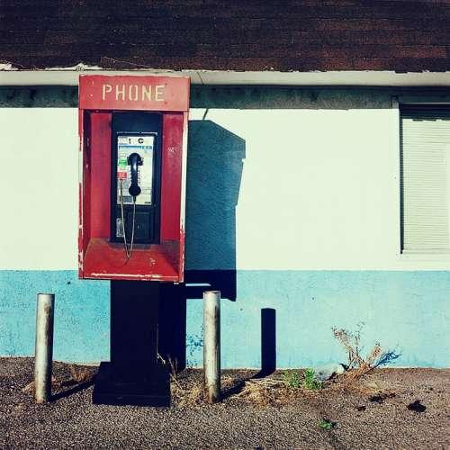 Telephone Phone Call Talk Pay Phone Street Urban
