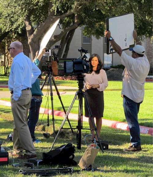 Television News Reporting Crew News Camera