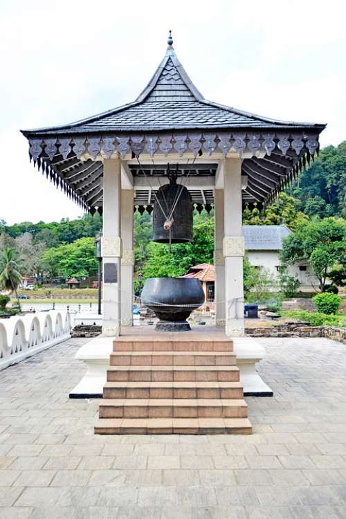 Temple Bell Sound Big Bell Giant Bell Wood Roof