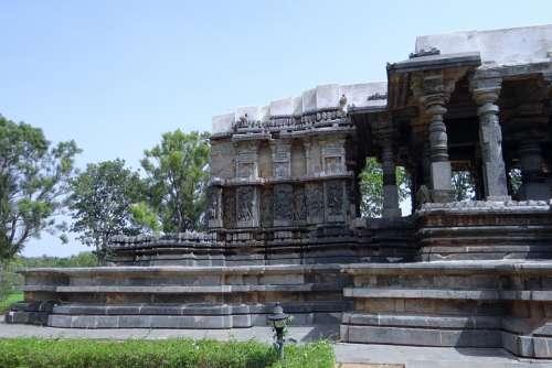 Temple Hindu Halebidu Hoysala Architecture Religion