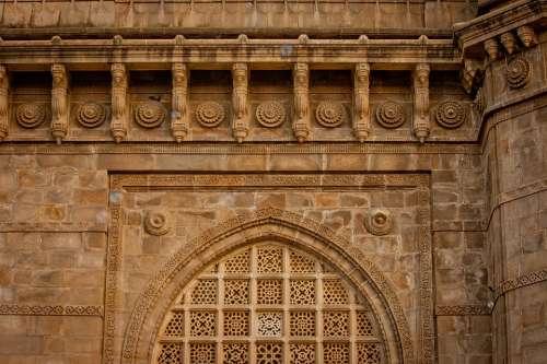 Temple Facade Ancient Architecture Mumbai
