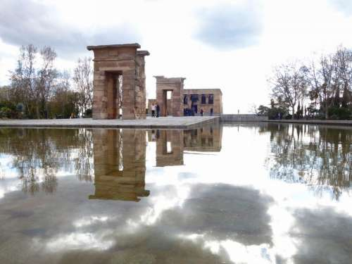 Temple Egyptian Madrid Highlights Water