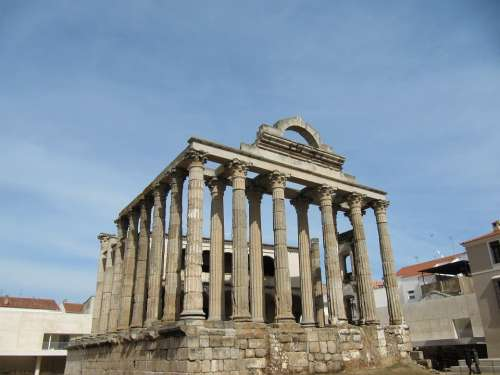 Temple Merida Roman Empire