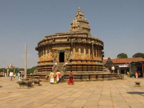 Temple Shringeri Karnataka India Architecture