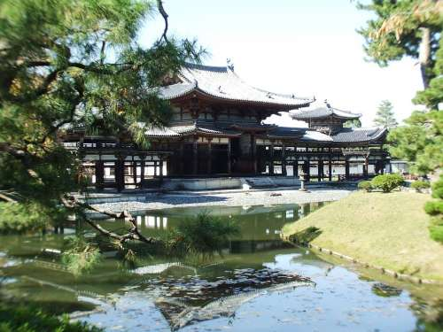 Temple Ancient Kyoto Japan Historic