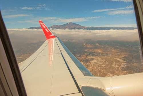 Tenerife El Teide Aircraft Wing
