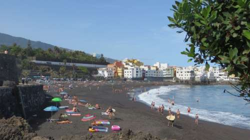 Tenerife Beach Jardin Lava Spain