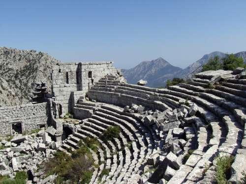 Termessos Antalya Theatre Mountain