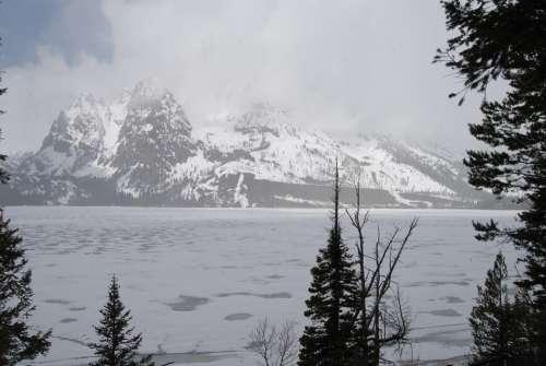 Teton Grand Tetons Mountains Wyoming