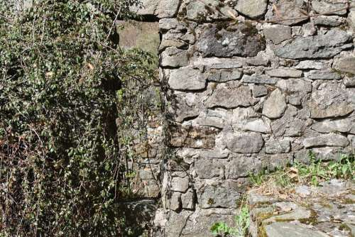 Texture Stone Wall Old Lapsed Dilapidated Nature