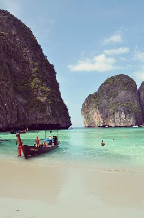 Thailand Islands Phiphi Beautiful Island Ocean
