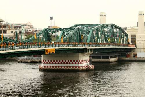 Thailand Bridge Bangkok Mojnks Walk Architecture