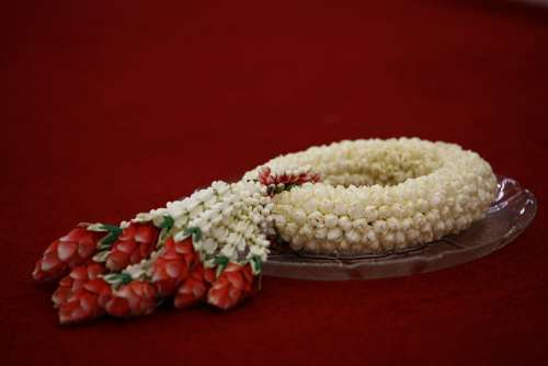 Thailand Flowers Decoration Ornament Red