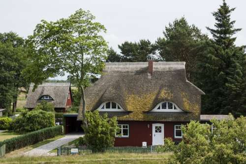 Thatched Roof Reed House Northern Germany