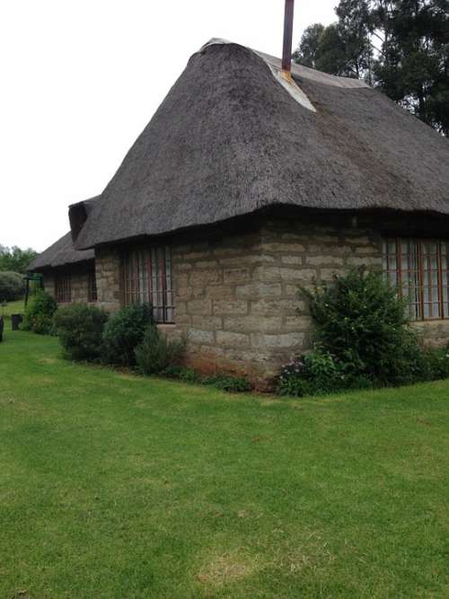 Thatching Thatched House House Nature Green