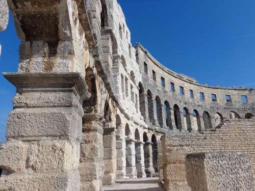 The Amphitheater Pula Croatia Istria Antique