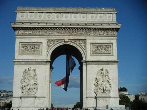 The Arc De Triomphe Paris France City The Centre Of
