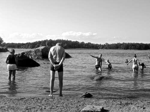 The Archipelago Beach Vaxholm Summer Sweden Water