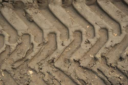 The Background Tire Track Local Offroad