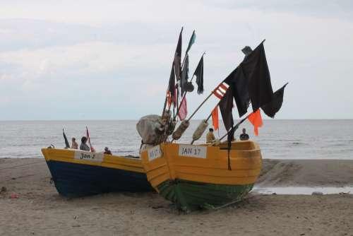 The Baltic Sea Sea Boat Beach Sand