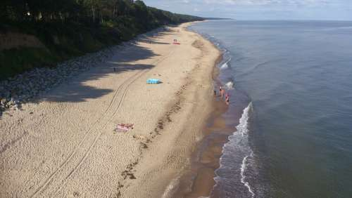 The Baltic Sea Beach Landscape Sand Summer Poland