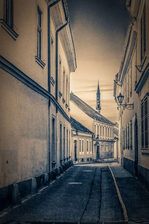 The City Of Eger Street Old Houses Nostalgia Mall