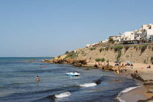 The Coast Sicily A View Of The Sea Italy