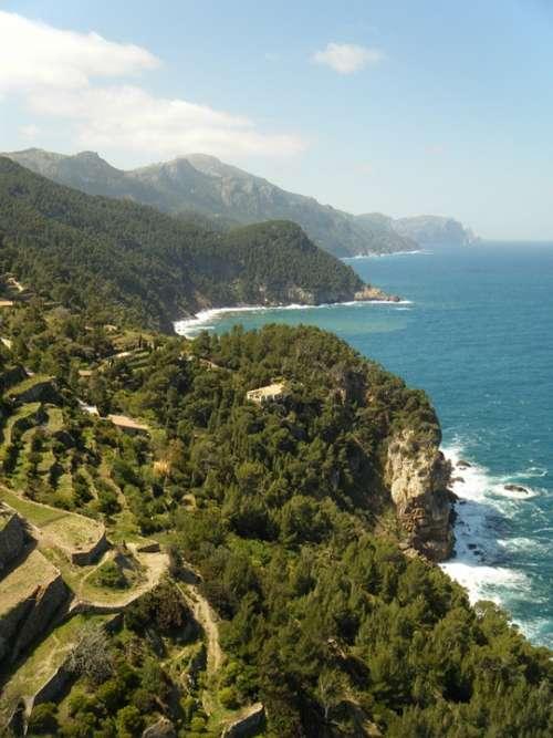 The Coast Sea Landscape Water Rock Cliff Turbot