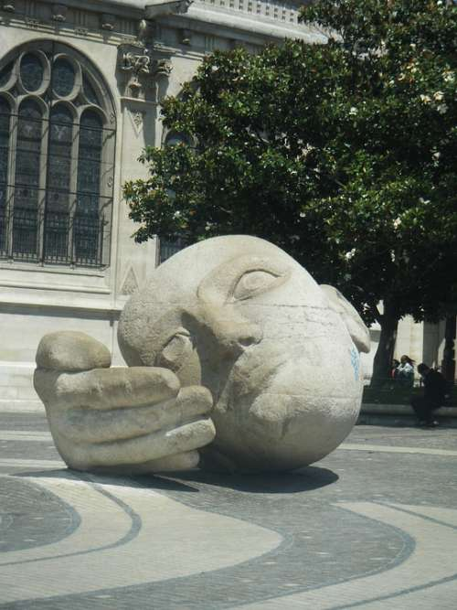 The Head Of The The Hand Square France Paris
