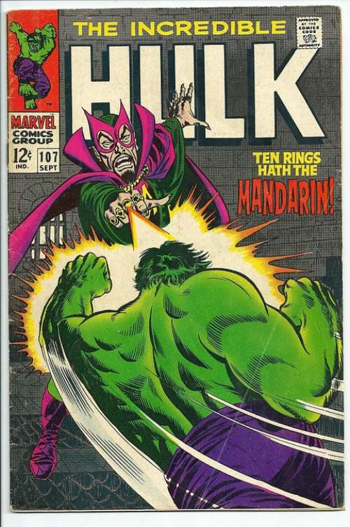 The Hulk Comic Book Vintage Art Artwork Retro