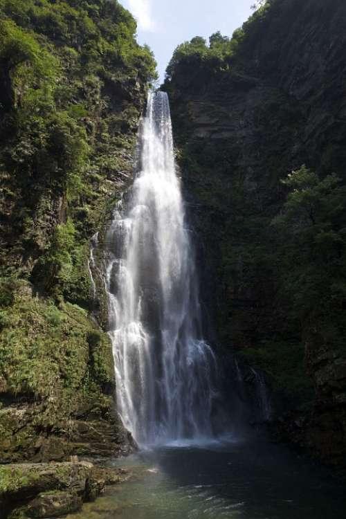 The Jinggang Mountains Strip Falls Vision