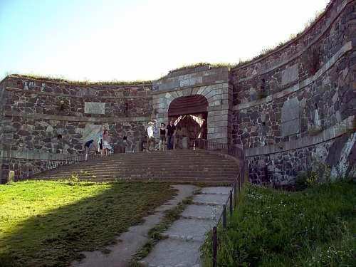 The King Port Wall Stairs Suomenlinna Helsinki