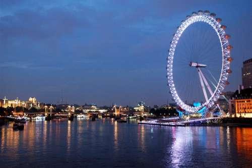 The London Eye Evening Night