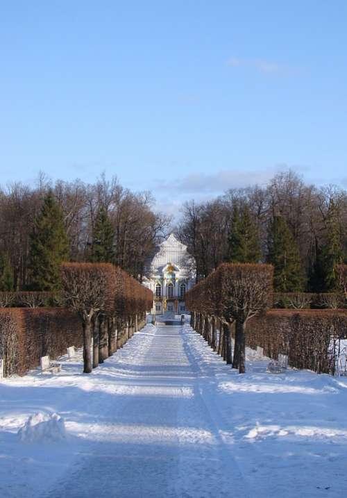 The Palace Ensemble Tsarskoe Selo Russia Alley